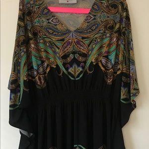Paisley print dress.